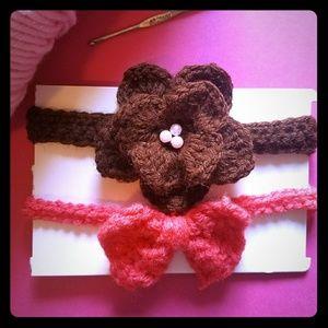 Accessories - Baby crochet headbands set/girl headbands